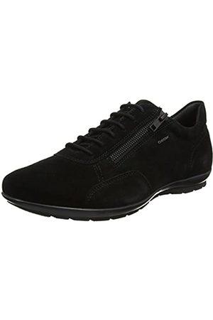 Geox Uomo Symbol A, Zapatos de Cordones Oxford para Hombre, (Black)