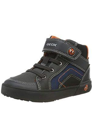 Geox Bebé Zapatillas deportivas - B Kilwi Boy D, Zapatillas para Bebés, (Dk Grey/Black C0062)