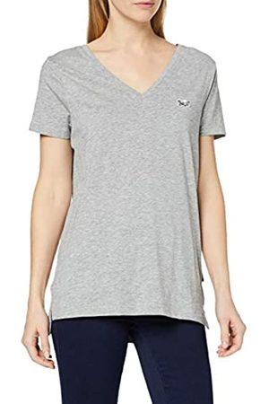 Sorai Camiseta de Manga Corta para Mujer con Cuello en V y Bordado en el Pecho, Mujer, 0793591910710