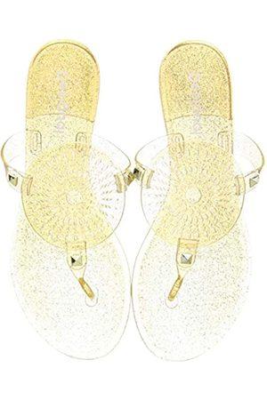 Desigual Shoes Jelly Galactic, Chanclas para Mujer, (Gold 9125)