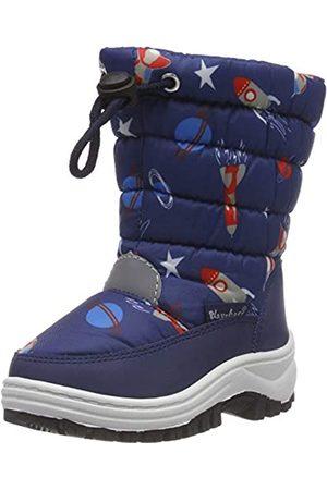 Playshoes Zapatos de Invierno Nave Espacial, Botas de Nieve Unisex Niños, (Marine 11)