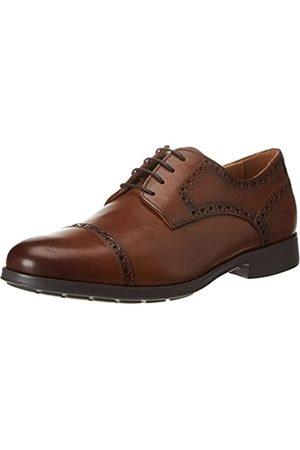 Geox U Hilstone 2fit A, Zapatos de Cordones Brogue para Hombre, (Cognac)