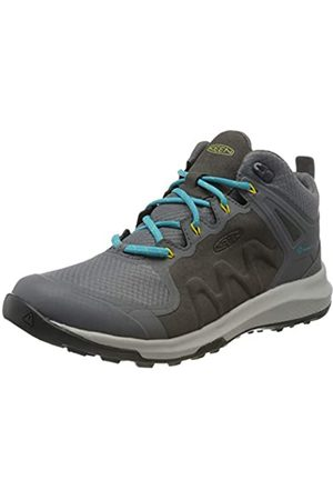 Keen Explore Mid, Imperméable, Zapatos de High Rise Senderismo para Mujer, (Steel Grey/Bright Turquoise 003)