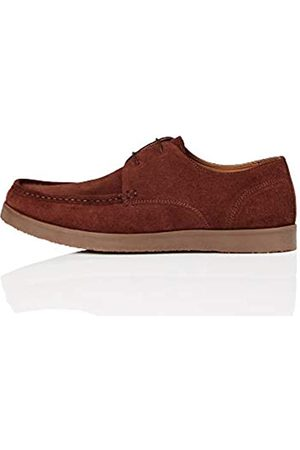 FIND Fairfax Zapatos de Cordones Derby, Burgundy