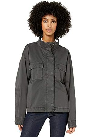 Goodthreads Cropped Utility Jacket Outerwear-Jackets, Oscuro