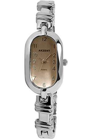 Akzent SS7121500074 - Reloj analógico de mujer de cuarzo con correa de aleación plateada - sumergible a 30 metros