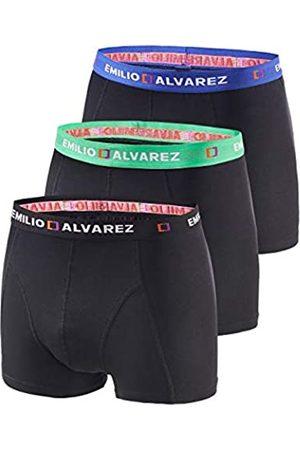 EMILIO ALVAREZ Boxershorts, 3er Pack, M Calzoncillos bóxers, Hombre