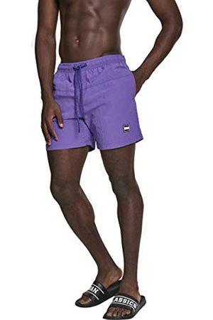 Urban classics Block Swim Shorts Pnt, Pantalones Cortos para Hombre, Morado (Ultraviolet 01459)