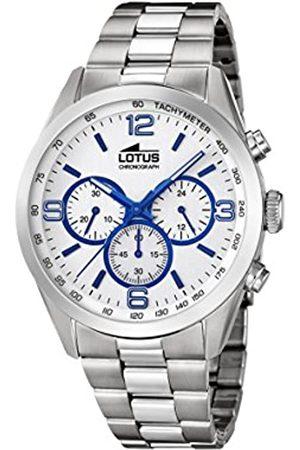 Lotus Watches Reloj Cronógrafo para Hombre de Cuarzo con Correa en Acero Inoxidable 18152/3