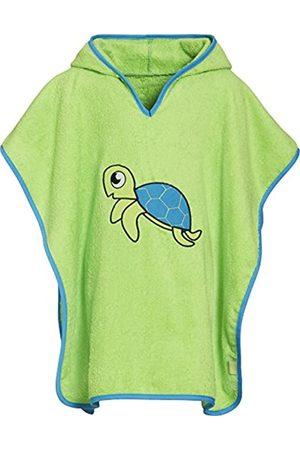 Playshoes Kinder Frottee-Poncho, Badeponcho Schildkröte mit Kapuze, Traje de baño Niñas, (grün)