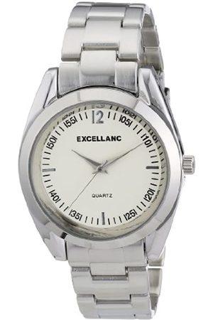Excellanc 280022100114 - Reloj analógico de caballero de cuarzo con correa de aleación plateada