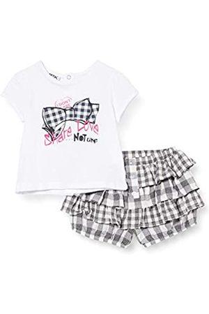 MEK Compl.t-Shirt + Bloomer Vichy Conjunto de Ropa, (Off White 01# /A)