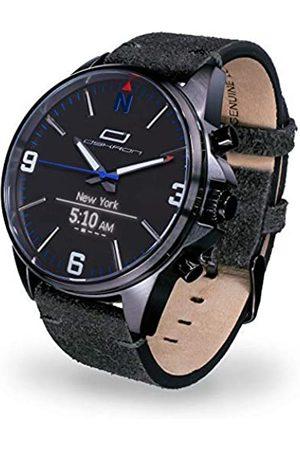 OSKRON Reloj de Pulsera para Hombre 012 Gear con Funciones de Reloj Inteligente, Color Nocturno