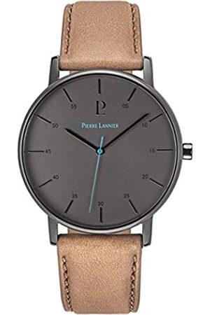 Pierre Lannier Reloj Analógico para Hombre de Cuarzo con Correa en Cuero 200F484