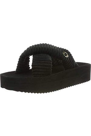 flip*flop Crosscord hi, Sandalias con Plataforma para Mujer, (Black 0000)