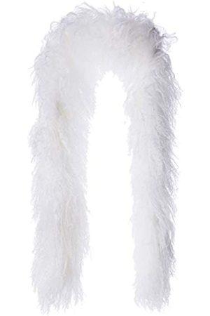 Snugrugs Luxury Mongolian Sheepskin Scarf Bufanda, (White