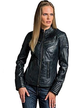 Urban GoCo Urban Leather Corto Biker - Chaqueta de piel, Mujer