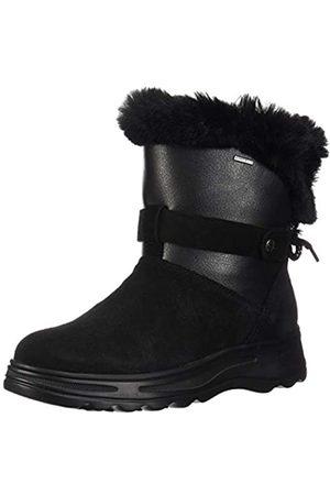Geox D HOSMOS B ABX C, Botas de Nieve para Mujer, (Black/Dk Grey C0005)