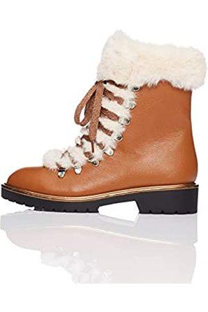 FIND Fur Lined Hiker Zapatos de Low Rise Senderismo, Brown