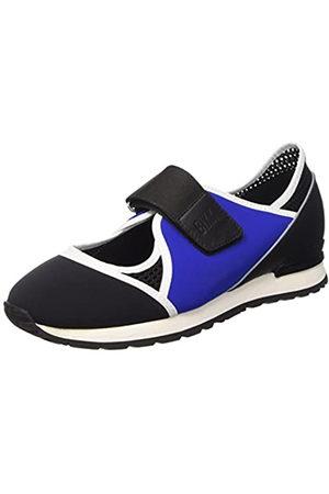 Bikkembergs Kate 664 L.Shoe Cut out W Lycra/Leather, Sandalias con Plataforma para Mujer, (Blk/Blue/Black)
