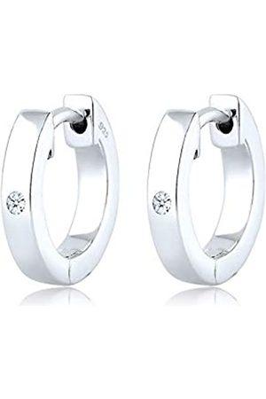 DIAMORE Diamore - Pendientes para mujer de Plata de ley, finura 925-1000 con diamante redondo