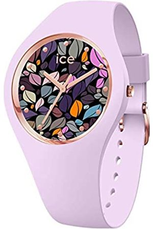 Ice-Watch ICE Flower Lilac Petals Reloj Púrpura para Mujer con Correa en Silicona 017580 (Medium)