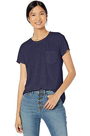 Goodthreads Washed Jersey Cotton Pocket Crewneck T-Shirt Fashion-t-Shirts
