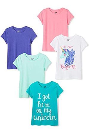 Spotted Zebra Girl'S 5-Pack Short Sleeve T-Shirts Camiseta