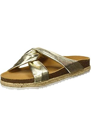 Paez Sandal Knot Gold, Sandalias con Punta Abierta para Mujer, ( 105)