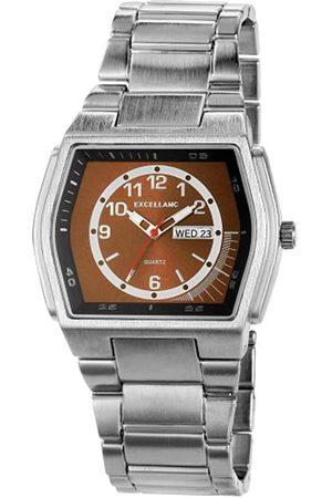 Excellanc 284027000111 - Reloj analógico de caballero de cuarzo con correa de aleación plateada