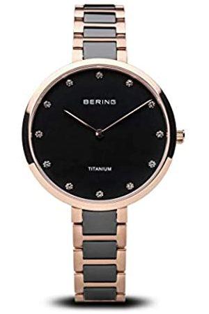 Bering RelojAnalógicoparaMujerdeCuarzoconCorreaenTitanio11334-762