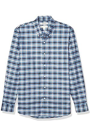 Goodthreads Standard-fit Long-Sleeve Stretch Oxford Shirt (All Hours) Camisa abotonada, Blue White Check