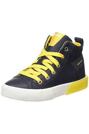 Geox J Alonisso Boy A, Zapatillas Altas para Niños, (Navy/Yellow C0657)