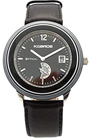 K&Bros RelojAnálogoclásicoparaHombredeCuarzoconCorreaenCuero9431-1-600