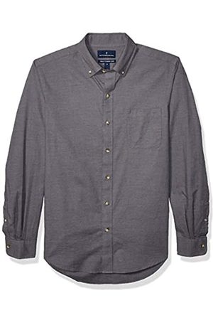 Buttoned Down Tailored Fit Supima Cotton Brushed Twill Plaid Sport Shirt Button-Down-Shirts