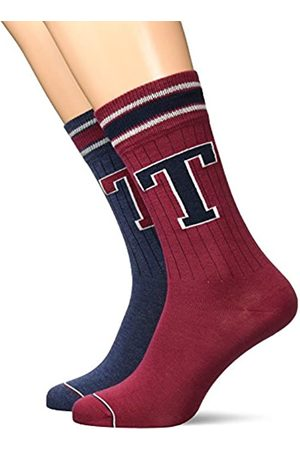 Tommy Hilfiger Men TH Patch Sock 2P, Calcetines para Hombre