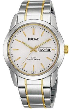 Seiko Pulsar PJ6023X1 - Reloj analógico de caballero de cuarzo con correa de acero inoxidable plateada - sumergible a 100 metros