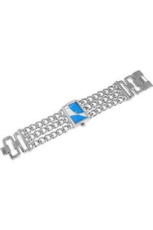 Excellanc 152423500031 - Reloj analógico de mujer de cuarzo con correa de aleación plateada