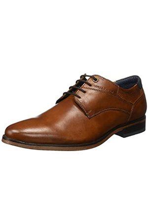 TOM TAILOR 8089601, Zapatos de Cordones Oxford para Hombre, (Cognac 00205)