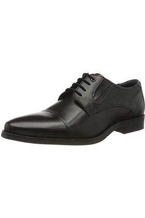 TOM TAILOR 8089603, Zapatos de Cordones Oxford para Hombre, (Black 00001)