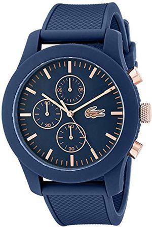 Lacoste 2010827 - Reloj analógico de pulsera para hombre, esfera con cronógrafo, correa de silicona