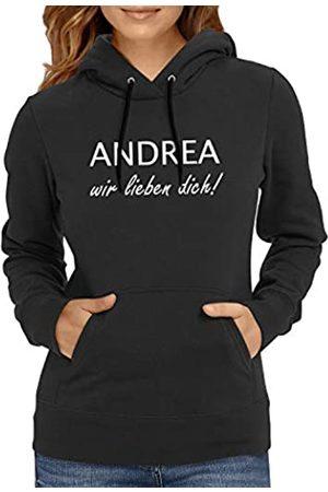 Texlab Andrea Wir lieben Dich-Damen Sudadera con Capucha, Mujer