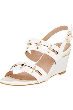 Lotus Alice, Zapatos de tacón con Punta Abierta para Mujer, (White WP)
