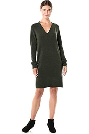 Daily Ritual Mid-Gauge Stretch V-Neck Sweater Dress Sweaters