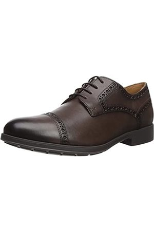 Geox U Hilstone 2fit A, Zapatos de Cordones Brogue para Hombre, (Ebony)