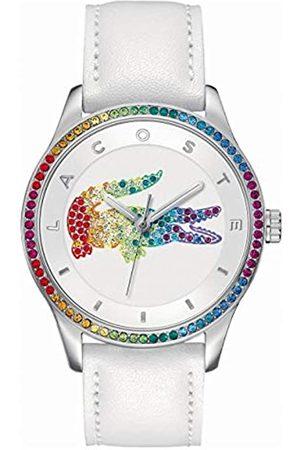 Lacoste 2000822 - Reloj análogico de cuarzo con correa de cuero para mujer