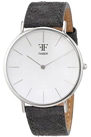 Faber Time Unisex-Reloj analógico de Cuarzo Cuero F809SL