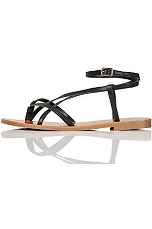 find. #_ Innis-s-17 Sandalias de Gladiador, (Black)