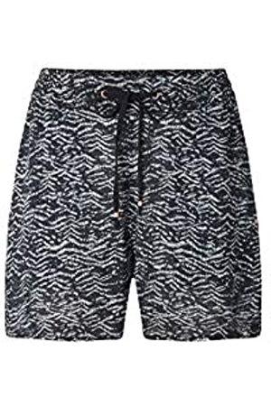 O'NEILL LW Montara Drapey Shorts Pantalón Corto para Mujer, Black AOP w/Green