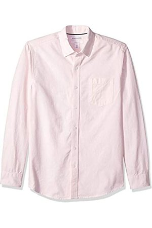 Amazon – Camisa Oxford de manga larga de corte entallado de rayas para hombre